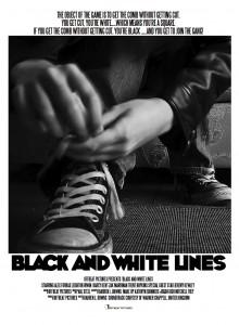 Black & White Lines poster