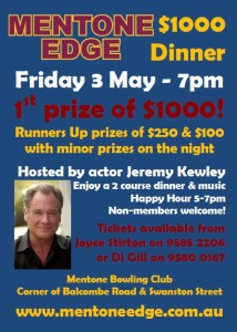 $1000 Dinner Poster - May 2013