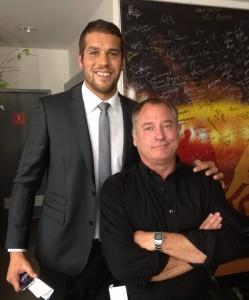 Jeremy with Buddy Franklin 2013