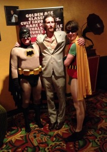 Jez & Ned as Batman & Robin with Tim Rogers - Sept 30 2013