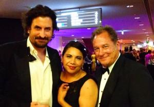 AACTA Awards Jan 2014 - Jez with Lachy Hulme & Deboarah Mailman