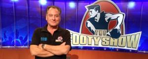 Jeremy on Footy Show set - July 2013 - 3