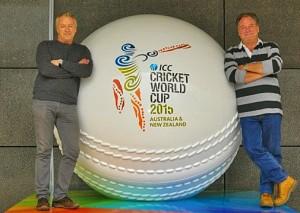 Chris & Jez - Giant Cricket Ball 1a