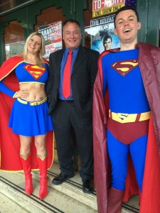 Superman - Jeremy with punters